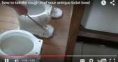 vintage toilet bowl size