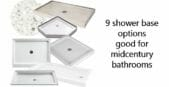 9 shower bases for a midcentury modern bathroom