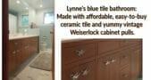 daltile spa blue bathroom