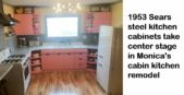 sears metal kitchen cabinets painted pink
