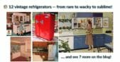 12 vintage refrigerators