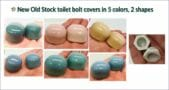 toilet bolt caps in five colors two shapes