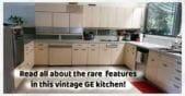 Rare GE vintage steel kitchen cabinets refrigerator freezer cabinettes